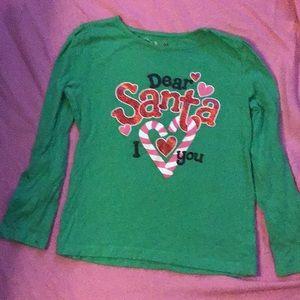 Santa long sleeve shirt